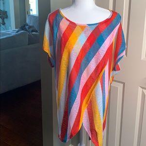 Love J. Rainbow Striped T Shirt 2X